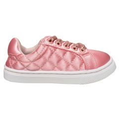 Miss Quilted Satin Lace Up Sneaker
