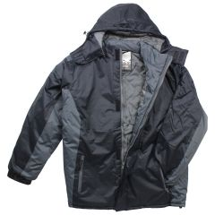 Men's Hooded Bomber Jacket Black