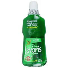 Lavoris Fresh Breath Mouthwash With Zantrate Mint Flavor 1 l