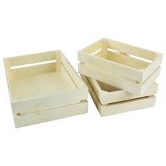 Wood Craft Crates Caddy Set