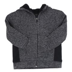 Burnside Sherpa Hoodie Jacket Black