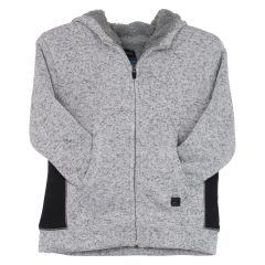 Burnside Sherpa Hoodie Sweater Boys Grey