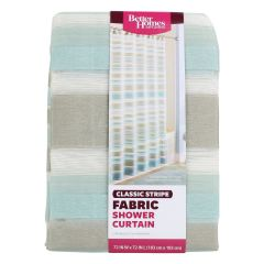 Better Homes & Gardens Classic Stripe Fabric Shower Curtain