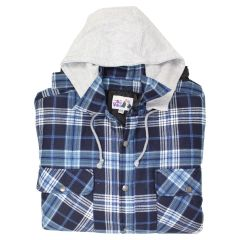 Big Valley Big And Tall Plaid Flannelette Shirt with Hood