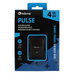 Borne Pulse Clip MP3 Player Pulse 4 GB 320 Series