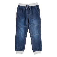 Boys Denim Ribbed Knee Blue Jean Sizes 4-6X