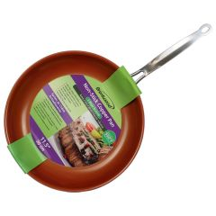 Brentwood Non-Stick Copper Induction Pan 11.5in