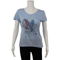 British Invasion Feather Print T-Shirt