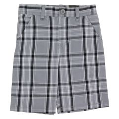 Burnside Boys Shorts Plaid Grey Size 4-6