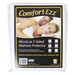 Comfort Ezz Microlux 5 Sided Mattress Protector Queen