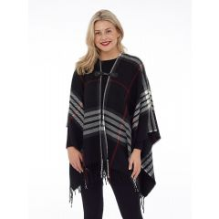 DKR & Co. Plaid Cape with Clasp