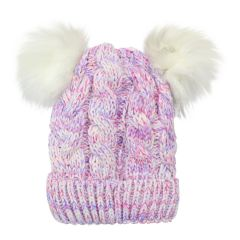 Densley & Co. Pom Pom Toque Pink