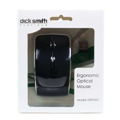Dick Smith Platinum Ergonomic Optical Mouse Black