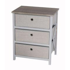 Casadécor 3 Drawer Storage Cabinet Brown