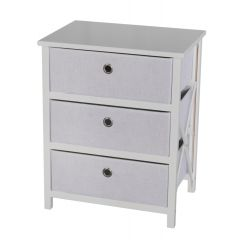 casadécor 3 Drawer Storage Cabinet White