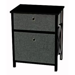 Casadécor 2 Drawer Storage Cabinet Black