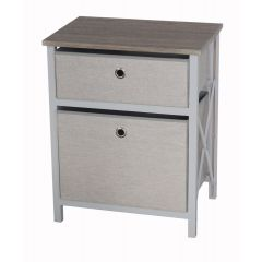 Casadécor 2 Drawer Storage Cabinet Brown