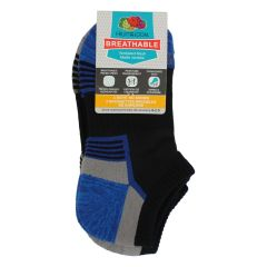 Fruit of the Loom Breathable No Show Ankle Sock 3Pk Size 9-2.5