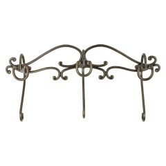 3 Hook Metal Rail Antique Bronze