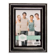 Home Elements Photo Frame Black & Silver 5x7in