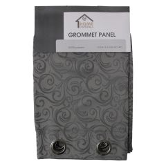 Home Essentials Jacquard Swirl Pattern Curtain Panel 2Pk