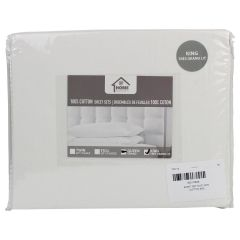 Home Essentials 100% Cotton Sheet Set King Size Assorted Colors