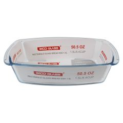 Ikoo Glass Rectangle Bread Dish 1.5L