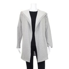 Guilty Open Front Cardigan with Hood Grey