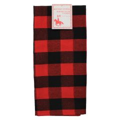 Linencorp Buffalo Plaid Kitchen Towel Red