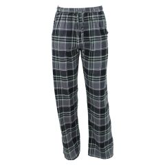 Memphis Blues Plaid Flannel Sleep Pants Grey