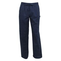 Memphis Blues Patterned Cotton Sleep Pant Navy
