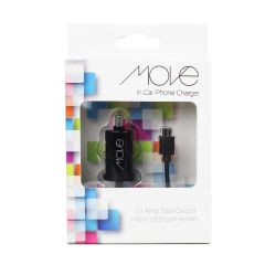 Move In Car Phone Charger Black