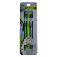 Onyx + Green Mechanical 7mm Pencil 3Pk