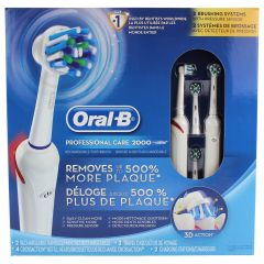 Oral B 3D Action Professional Care 2000 Rechargeable Toothbrush 2Pk