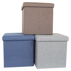 Collapsible Storage Ottoman 15 x 15in
