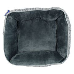 Bone Print Fleece Pet Bed