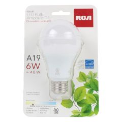 RCA LED Bulb A19 / 6W Warm White