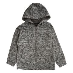 Burnside Sueded Fleece Boys Hoodie Charcoal