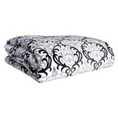 Oversize Luxury Flannel Throw Black 50 X 70in