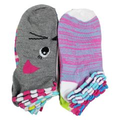 Girls No Show Socks 12 Pack Size 6-8 Assorted Colours