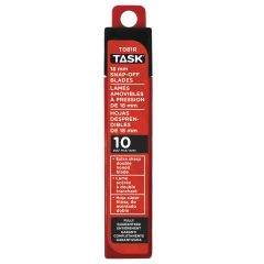 Task Tools 18 mm Snap-Off Blades - 10/pack