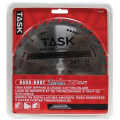 Task Tools 7-1/4 inch 24T ATB Hardbody Thin Kerf Framing and Decking Blade - 1/pack