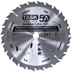 Task Tools 7-1/4 inch 24T ATB Barracuda Thin Kerf Framing Blade