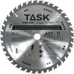 Task Tools 7-1/4 inch 40T ATB Hardbody Thin Kerf Fine Finishing Blade