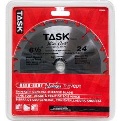 Task Tools 6-1/2 inch 24T ATB Hardbody Thin Kerf General Purpose Blade - 1/pack