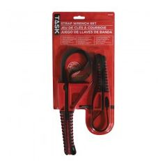 Task Tools 2pc Strap Wrench Set - Carded