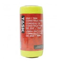 Task Tools 250' Yellow Replacement Braided Nylon Construction Line - 1/pack