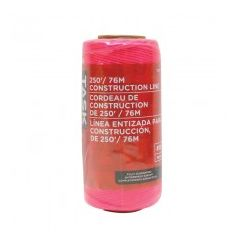 Task Tools 250' Pink Replacement Braided Nylon Construction Line - 1/pack