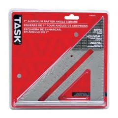 Task Tools Aluminum Triangular Rafter Square - 1/pack
