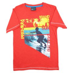 Urban Vintage Printed T Shirt Red